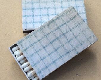 10 Matchbox Wedding Favors  blue graph