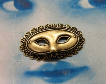 Brass Ox Plated Masquerade Mask Stampings 922BOX x2