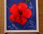 Joba Red Hibiscus CANVAS print