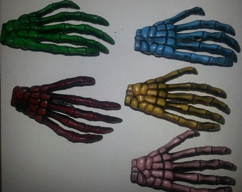 Skeleton hands,Zombie, Zombie barrette, Blood , Zombie clip, Horror, Horror clip, Walking dead