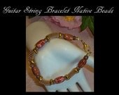 Guitar String Jewelry, Native Beads