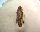 Agua Nueva Agate Ring - Size 8 - Reserved for Gardenstategirl -