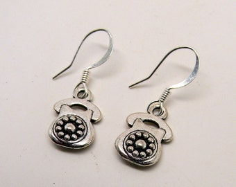 Steampunk telephone earrings.