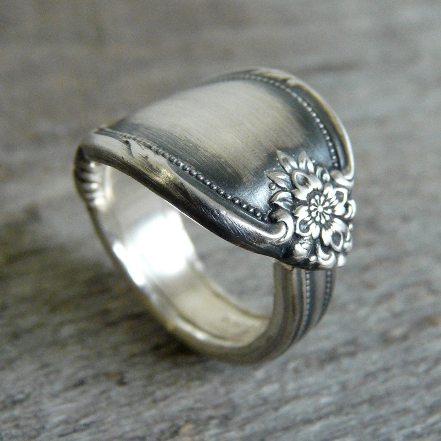 antique spoon ring silver pattern remembrance by revisions