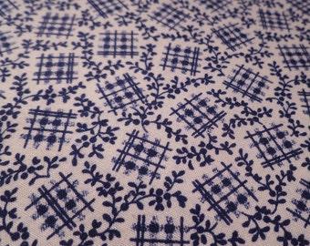 Dark Blue Tradition - Vintage Fabric - Cotton