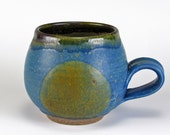 Blue With Bronze Spot Bubble Cup
