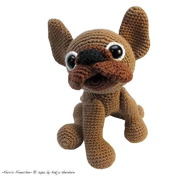 Amigurumi Bulldog Pattern : amigurumi dog french bulldog PDF crochet pattern animal