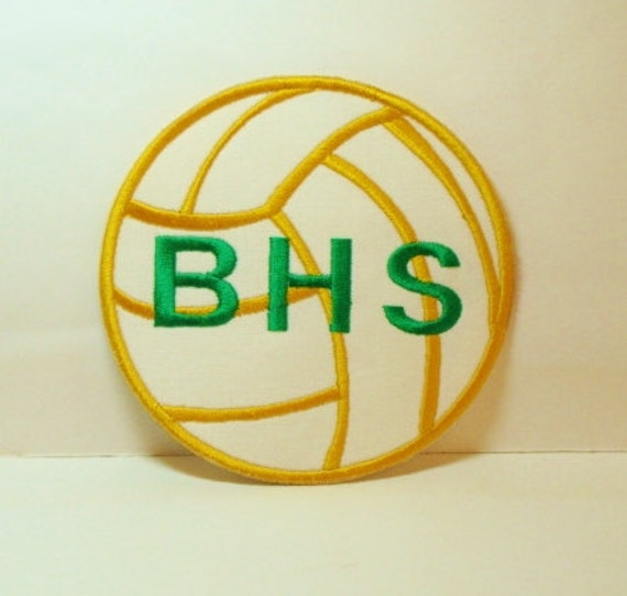 Volleyball Patch Embroidered Applique -100005