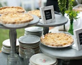 Cake or Pie Stand Rustic Silver Wedding Party Shabby Chic Cupcake Stand