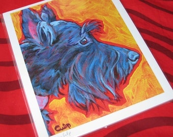 SCOTTIE Dog 8x10 Signed Art Print from Painting by Lynn Culp