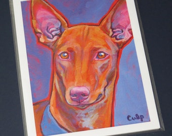 PHARAOH HOUND Dog 8x10 Signed Art Print from a Painting by Lynn Culp