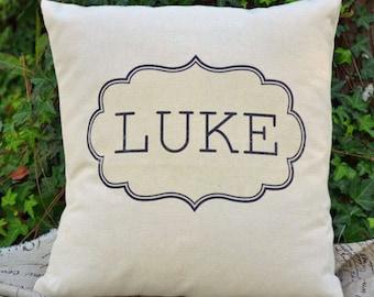 Children's personalized gift, teen gift, newborn gift, baby gift, name pillow, custom phrase pillow