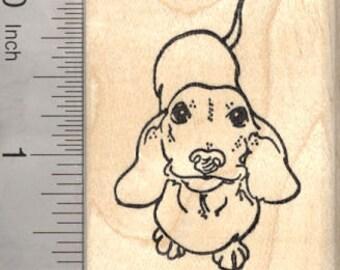 Dachshund Rubber Stamp, Wiener Dog G26411 Wood Mounted