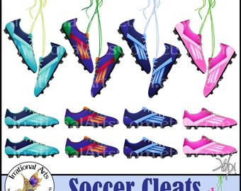 Soccer Cleats 12 PNG digital clipart graphics INSTaNT DOWNLOaD