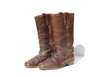 Size: 8 Men's FRYE  Black Label Chocolate Brown Leather Boots
