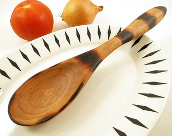 Wooden Kitchen Utensil, Serving Spoon, Cherry Wood Spoon, Carved Wood Spoon, from American Black Cherry Wood