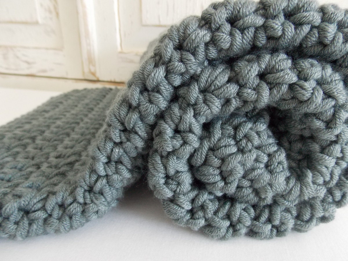 Chunky Knitted Baby Blankets Chunky knit crocheted ...