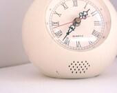 Vintage round clock seventies mod white