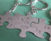 Puzzle Pieces Best fing friends set of 3 fit together puzzle pieces best btches friendship gift choice of charms or key chains