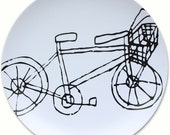 Bicycle Plate - more colors - BPA FREE - housewarming gift - bicycle enthusiast - cycle - pink - orange - lime green - turquoise - melamine