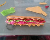 Italian Hoagie Sub Shop inspired Holiday Christmas Ornament