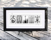 Custom New Orleans Alphabet Photo Art | NOLA Name Print | ABCs of New Orleans Letter Photography | 10x20 Personalized NOLA Sign