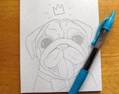 Crowned Pug Notepad