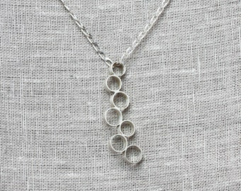 Silver necklace for women, Simple necklace, Circle necklace, Dainty necklace, Charm necklace, Minimalist necklace, Sterling silver jewelry