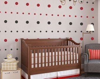 Polkadots Set of 192 - Mod Geometric - Wall Decals - Your Choice of Color