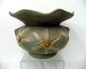 Violet Planter 3-D Daisy Motif Sage Green Matte Glazed 2 Piece Self Watering  on Etsy