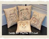 Scarecrow Mini Collection 1-Primitive Stitchery  E-PATTERN by Primitive Stitches-Instant Download