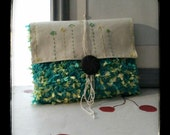 CLUTCH BLUE EMBROIDERED Crochet