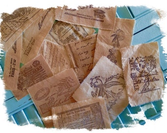 SAMPLER PACK  - 14 Designs - Hand Stamped French Style Motifs -