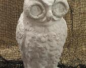 "Unfinished paper mache 9 1/2"" Halloween Owl"