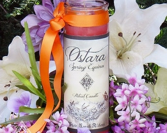 Ostara Vigil Lights Candle for Spring Equinox, Easter