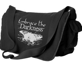 Gothic Butterfly Messenger Bag - Embrace the Darkness - japanese creepy cute pastel goth gothic butterfly japan kawaii
