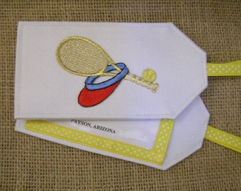 Luggage Tag, Tennis Luggage Tag, Luggage Tags, Tennis