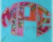 EXCLUSIVE Oval Monogram Font Embroidery Applique Design