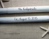 """59"""" Personalized Pair Painted Oars (2) Nautical Wedding Guest Book Bride and Groom Names and Wedding Date / Nautical Beach Wedding Paddles"""