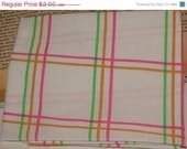 Final Clearance 75% OFF Tootie Frootie - really fat quarter - reclaimed linens fabric