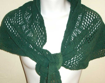 vintage green lace shawl