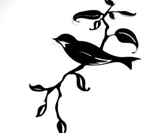 Wall Decal Bird on Branch
