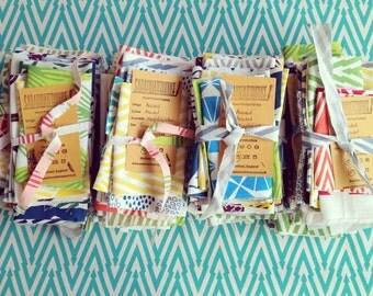 Hand Printed Fabric Scrap Pack