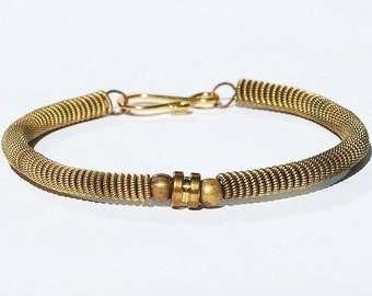 Guitar String Bracelet- Upcycled Ball End Brass Guitar String Jewelry, Guitar Player Gift, Music Jewelry, Acoustic Guitar String Bracelet