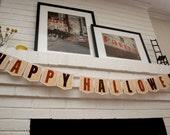 Happy Halloween Printable- Happy Halloween Banner-- Instant Download Printable Banner- Halloween Party Printable- Halloween Decoration