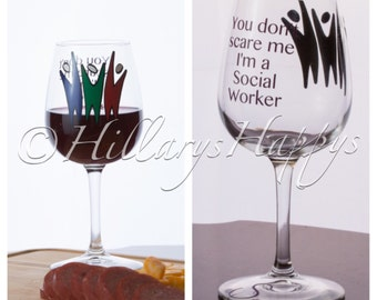 Social Worker Wine Glass