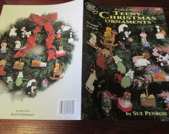 Holiday Plastic Canvas Patterns Teeny Christmas Tree Ornaments American School of Needlework 3160 Sue Penrod