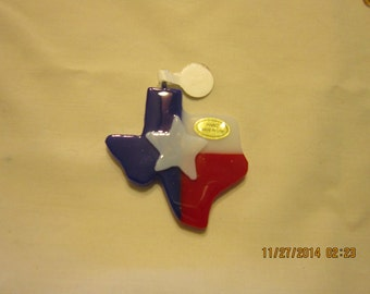 Texas Flag Pendant of Fused Glass