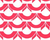 Sale!  Fat Quarter - Josi Severson - Original ScreenPrinted Canvas Organic Fabric - Red Raspberry April Showers