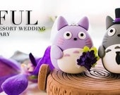 totoro cake topper---Custom Order Deposit for the lovely Wedding Cake Topper (K116)